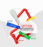 Colorful fresh sticker infographics Royalty Free Stock Photos