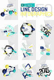 Colorful fresh sticker infographics Royalty Free Stock Image