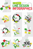 Colorful fresh sticker infographics Stock Photo
