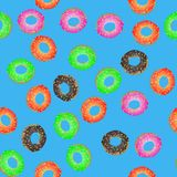 Colorful Fresh Sweet Donuts Seamless Pattern Royalty Free Stock Photos