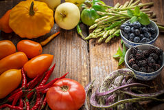 Colorful fresh vegetables of all colors on the Royalty Free Stock Image