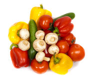 Colorful fresh vegetables isolated Royalty Free Stock Photography