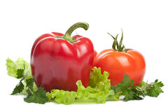 Colorful fresh vegetables isolated Stock Photo