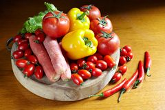 Colorful fresh vegetables Royalty Free Stock Images