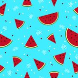 Colorful fresh watermelon fruits seamless summer pattern backgro Royalty Free Stock Photography