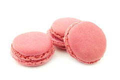 Colorful freshly baked macarons Stock Images
