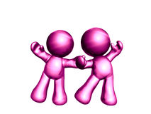 Colorful friends icon figures Royalty Free Stock Image