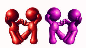 Colorful friends icon figures. Colorful friends icon figure dancing together Stock Images