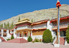 Colorful fron portion of sumoor gompa Stock Photos