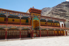 Colorful front compound of hemis monastery in Ladakh, India Royalty Free Stock Image