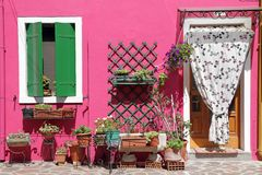 Colorful front door Stock Image
