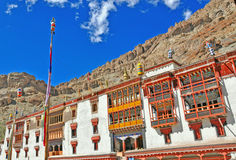Colorful front view of hemis monastery Royalty Free Stock Photo