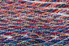 Colorful frottee fabric macro Royalty Free Stock Images