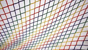Colorful frozen mesh. Colorful frozen mesh on white background Royalty Free Stock Image