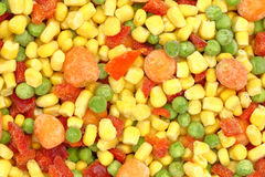 Colorful frozen mixed vegetables Royalty Free Stock Image