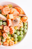 Colorful frozen mixed vegetables Royalty Free Stock Photo
