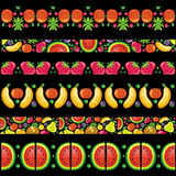 Colorful fruit banners. royalty free illustration