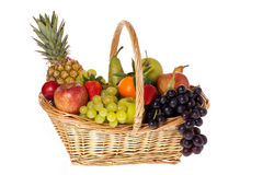 Colorful fruit basket Stock Photos