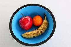 Colorful Fruit Bowl stock photography