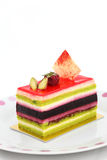 Colorful Fruit Cake Royalty Free Stock Images