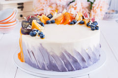 Colorful fruit cake Royalty Free Stock Photography