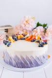 Colorful fruit cake Stock Image