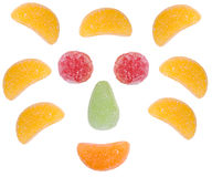 Colorful fruit candies Stock Image