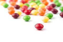 Colorful fruit candies Stock Photos