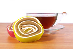 Colorful fruit candy Stock Photos