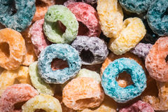 Colorful Fruit Cereal Loops Royalty Free Stock Photography