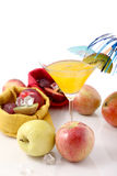 Colorful fruit cocktail of fresh fruit Royalty Free Stock Image