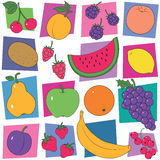 Colorful fruit collection background Stock Photography