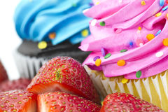 Colorful Fruit and Cupcakes Royalty Free Stock Photography
