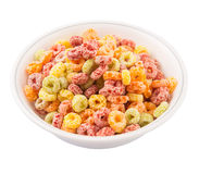 Colorful Fruit Flavored Cereal II Royalty Free Stock Images