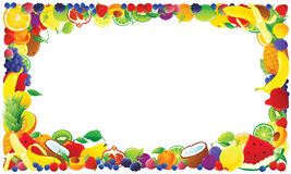 Colorful fruit frame Royalty Free Stock Photos