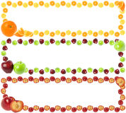 Colorful Fruit Frames Stock Photography
