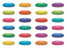 vector colorful fruit gelatin jelly beans Stock Image
