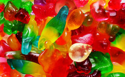 Colorful fruit gum Stock Images