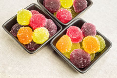 Colorful Fruit Jelly Stock Image