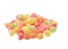 Sour colorful fruit jelly bonbons Royalty Free Stock Photos