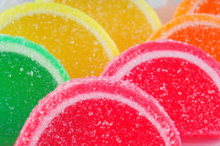 Colorful fruit jelly candies Royalty Free Stock Photo