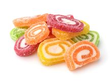 Colorful fruit  jelly candies Royalty Free Stock Image