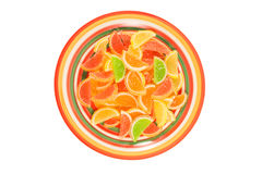 Colorful fruit jelly candies royalty free stock photos