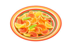 Colorful fruit jelly candies Stock Photo