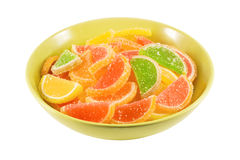 Colorful fruit jelly candies Stock Photos