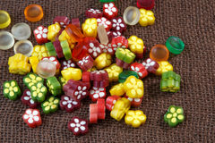 Colorful fruit jelly candy Stock Photography