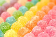 Colorful fruit jelly candy Stock Photos
