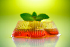 Colorful fruit jelly Royalty Free Stock Image
