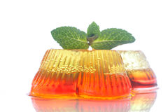 Colorful fruit jelly. Sweets on a white plate Stock Image