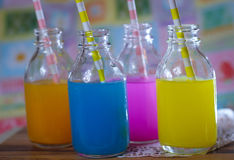 colorful fruit juice candy sweet sour drink Stock Image